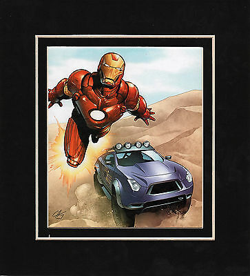 INVINCIBLE IRON MAN Print Professionally Matted