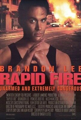 RAPID FIRE MOVIE POSTER 2 Sided ORIGINAL ROLLED 27x40 BRANDON LEE