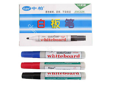 3 Colours Black/Red/Blue Whiteboard Bright Marking Painters Marker Pen New