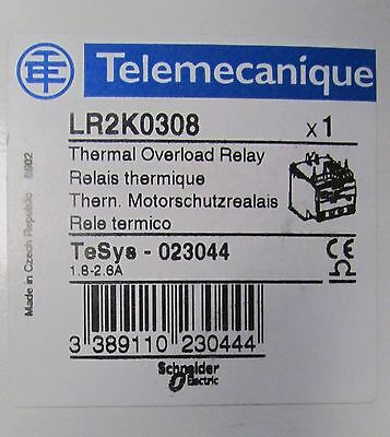 TELEMECANIQUE TESYS Thermal Overload Relay LR2K0308