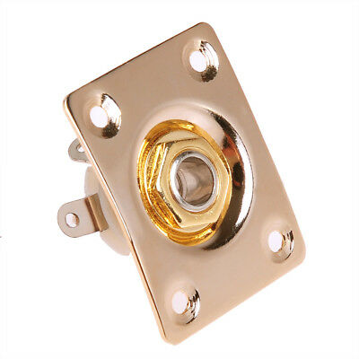 Gold Plated Square Guitar Jack Plate With Output input jackElectric Guitar Parts