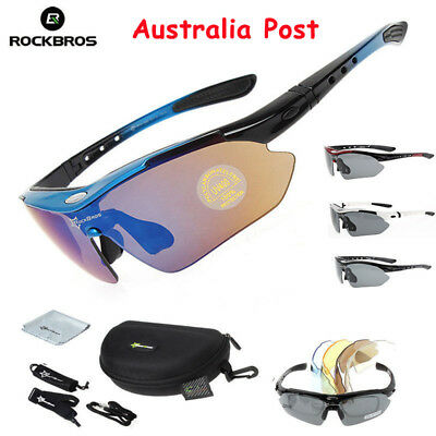 ROCKBROS Photochromic Cycling Sunglasses Bike Goggle Sports Polarized Glasses AU
