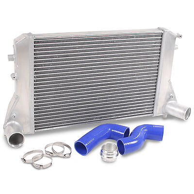 Alloy Front Mount Intercooler Kit For Vw Golf Passat Caddy 1.8 1.9 2.0 Gti Tdi