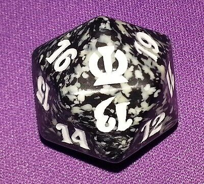 10 Black SPINDOWN Die Theros 20 sided Spin Down Dice MtG Magic the Gathering d20