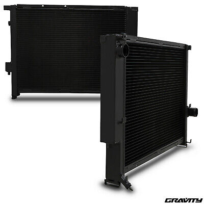 42mm BLACK ALUMINIUM ALLOY RACE RADIATOR RAD FOR BMW 3 SERIES E36 M3 3.2 Z3