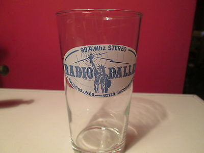 ancien verre RADIO DALLAS