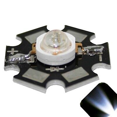 5 x LED 3 Watt Cool Clear White Star Bright Wide Angle High Power LEDs 3w w