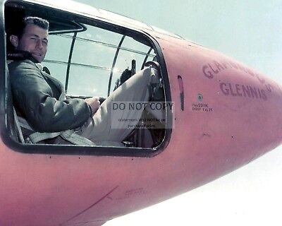 Captain Chuck Yeager In Bell X-1 Cockpit Glamorous Glennis - 8X10 Photo (Aa-258)