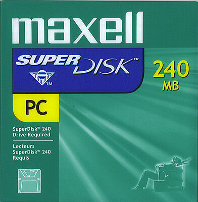 Maxell 570325 SuperDisk 240MB PC Format(10-pack) -NEW