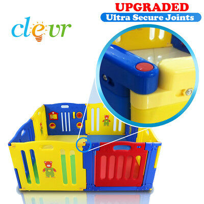Clevr 8 Panel Safety Baby Playard
