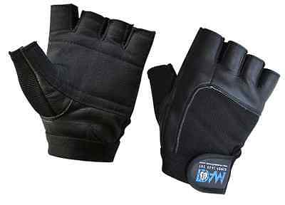 DAM Weight lifting Gym Gloves Black  Geniune Leather Unisex S-XL New