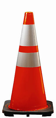 """28"""" Highway Traffic Cone w Reflective Collar Tape"""
