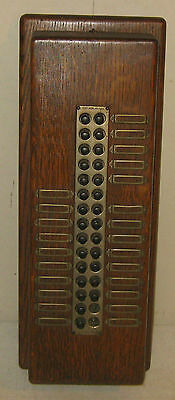 Antique Rhode Island Mill Connecticut Telephone & Elec Intercom A&c Oak Call Box