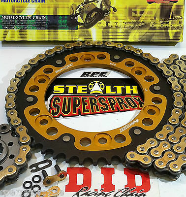 CBR600RR '07-16 GOLD DID X-Ring & SUPERSPROX QUICK ACCEL CHAIN AND SPROCKETS KIT