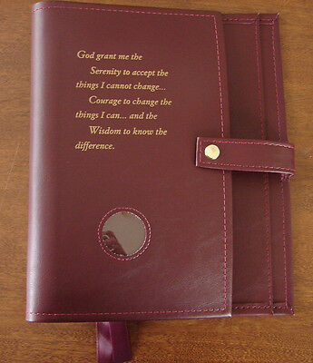 Alcoholics Anonymous AA Big Book 12&12 Deluxe LARGE PRINT Burgundy Cover Sober