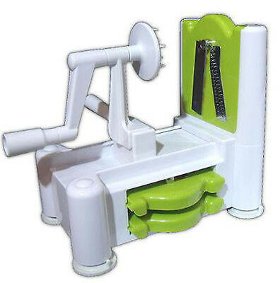 Spirooli 3 in 1 Vegetable Fruit Spiraliser - Raw Food Spiralizer Slicer & Turner