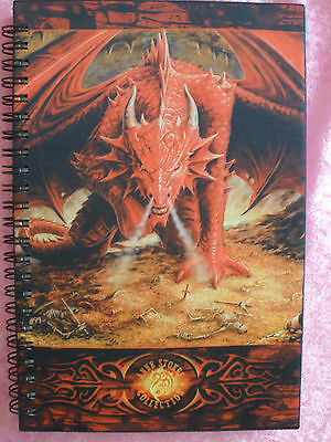 Dragon lair book journal notebook writing diary almanac ledger Anne stokes new