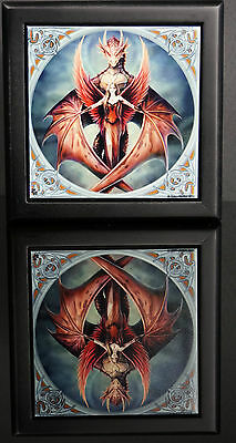 Anne stokes Dragon Box Copper wings tile Keepsake trinket jewelry Gothic Wicca