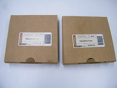 Two Longaberger Empty Boxes For Paprika Crock Lids Coasters Candle Holders