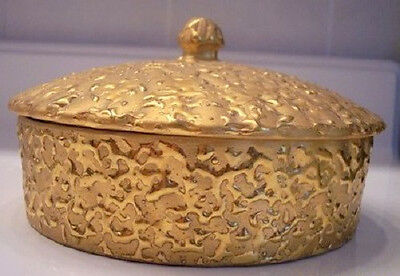 Vintage Hand Decorated 22K Gold Weeping-Bright Powder Bowl