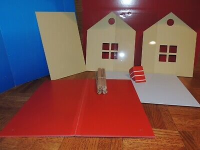 CUSTOM KIT TWO CAR GARAGE BUILDING with OFFICE for 1:24 (G) Scale DIORAMA