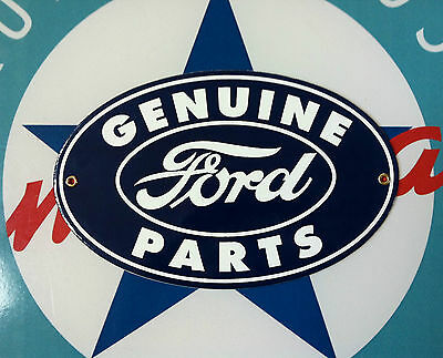 classic genuine FORD PARTS - Porcelain Coated Metal Sign
