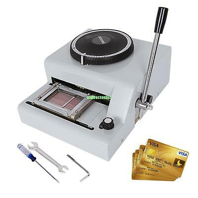 72 Character Letter Manual Embosser Credit ID PVC VIP Card Embossing Machine