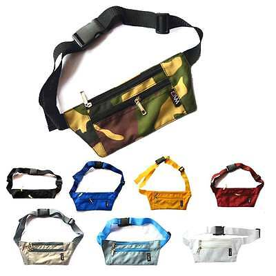 Dam Unisex Running Jogging Bum Bag Travel Hiking Sports Fanny Waist Belt Zip Pou