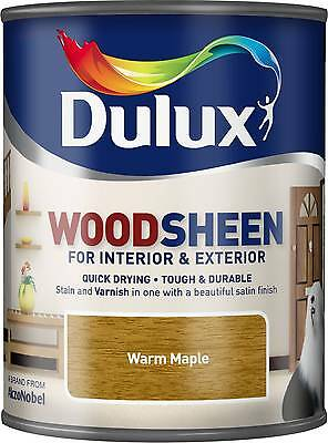Dulux Woodsheen - Warm Maple - 750ml - Interior & Exterior - Woodstain