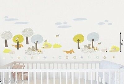 Sticker muraux decoration chambre bébé enfant la forêt wall decor baby room