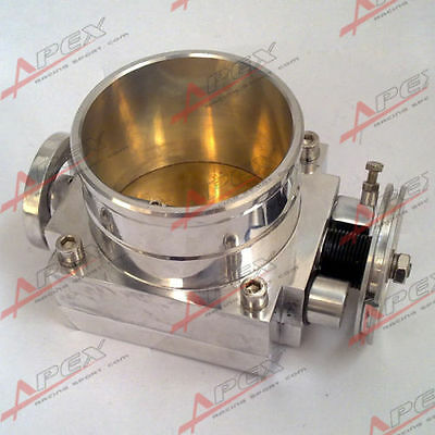 100mm Universal Throttle Body for NISSAN CNC T6 Aluminum Silver 40009
