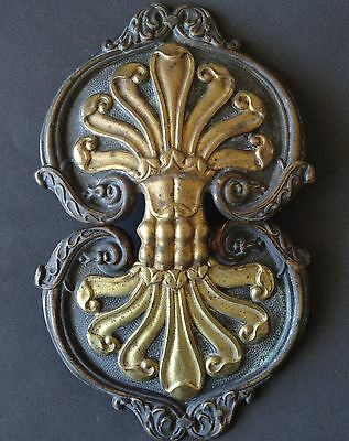 19TH CENT VERY LARGE BUCKLE. BRASS PATINED AND GILDED  19 CM- 7.5 IN.VICTORIAN