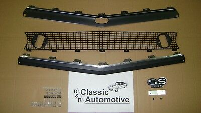 Camaro 67 Standard Grill 71pc Kit w/ Moldings + SS350 Emblem + Hardware In Stock