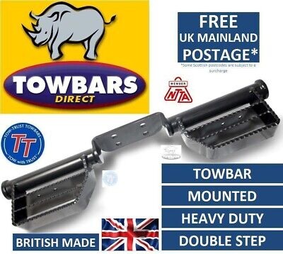 Towbar Mounted Step Heavy Duty Tow Bar Towstep Double Sided 4 Bolt fixing