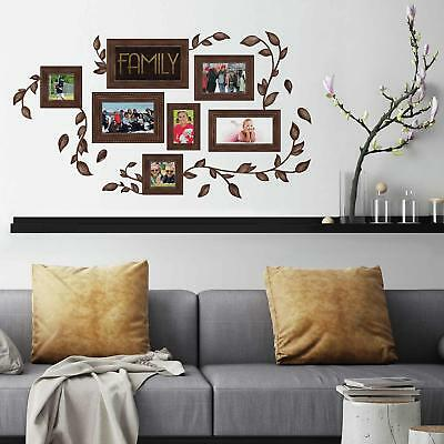 New FAMILY PICTURE FRAMES PEEL & STICK WALL DECALS Vines Stickers Home Decor