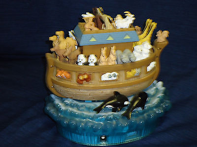 "8.5"" Musical & Motion Decorative NOAH'S ARK Figurine Display  AVON?"