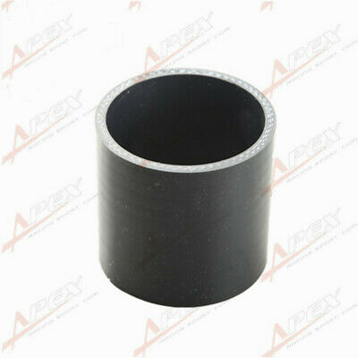 """3 Ply 4"""" inch Straight Hose 70mm Turbo Silicone Coupler Pipe Black"""