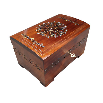 Wooden Jewellery Chest Lock And Key