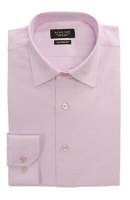 Tailored / Slim Fit Mens Lavender Dress Shirt Wrinkle-Free Spread Collar AZAR