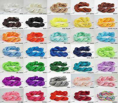 1mm Chinese Knot Nylon Shamballa Macrame Braiding Cord Beading String Pick Color