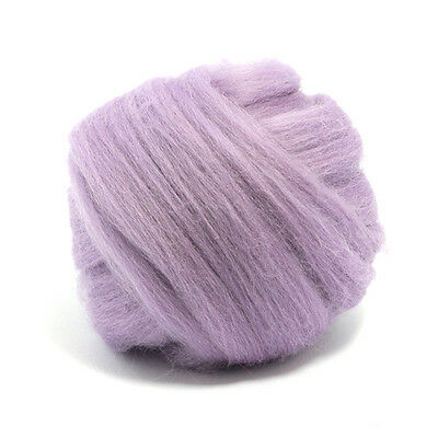 100g DYED MERINO WOOL TOP LAVENDER PURPLE DREADS 64's SPINNING FELTING ROVING