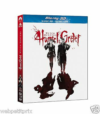 Hansel & Gretel : Witch Hunters   BLU-RAY 3D ACTIVE + BLU-RAY + DVD -VF - NEUF