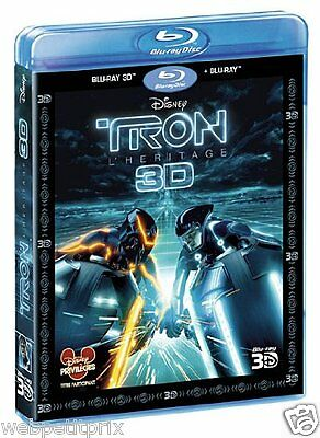 TRON - L'Heritage -  BLU-RAY 3D ACTIVE + BLU-RAY -VF - NEUF
