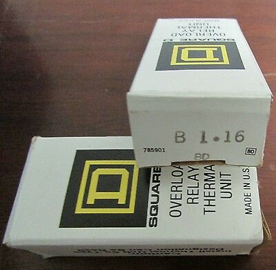 SQUARE D B1 16  Thermal Overload Relay Heater Element B 1.16