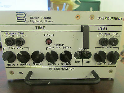 Basler Electric Overcurrent Relay BE1 50 51M 104