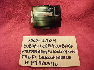 2000-2004 Subaru Outback Legacy Factory Security Unit Theft Locking H7110Ls110