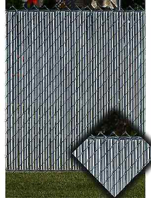 Gray Privacy Fence Slats (for 4 foot Chain Link)