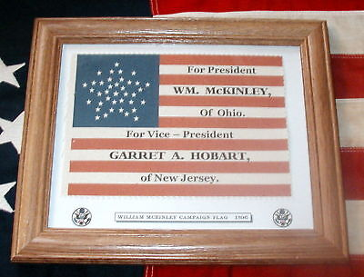 38 Star American Flag....William McKinley Campaign Flag