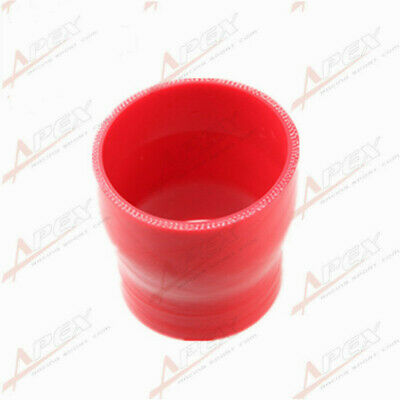 """3 Ply 3"""" To 2.25'' inch Straight Reducer 76.2mm Silicone Hose Coupler Pipe Red"""