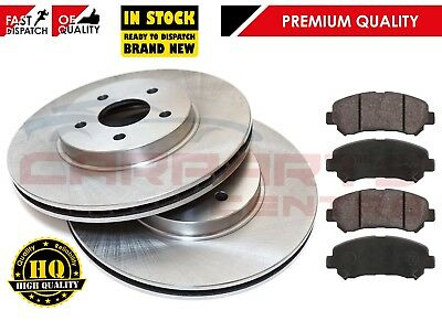 FOR NISSAN QASHQAI 1.5 1.6 2.0 07- FRONT 296mm VENTED BRAKE DISC DISCS PADS SET